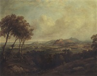 a view of edinburgh castle from corstorphine hill by henry g. duguid