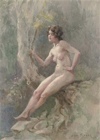 a female nude (+ 2 others; 3 works) by joshua fisher