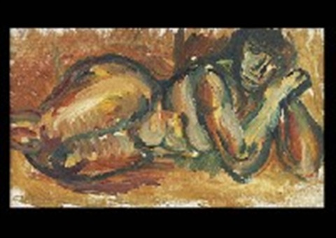 leaning nude by ben shahn
