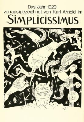 das jahr vorausgezeichnet von karl arnold im simplicissimus 14 works by karl august arnold