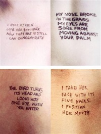 untitled (selections from lustmord text): english version (14 works) by jenny holzer