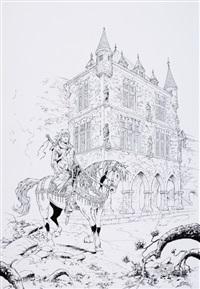 très belle illustration reprenant le personnage, de la série croisade ayant servie by philip xavier