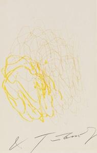 meta-matic no. 6 (gelb, orange und hellgrün) by jean tinguely