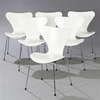 seven chair (set of 6) by arne jacobsen