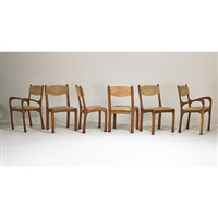 chairs (set of 6) by arthur espenet carpenter
