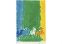 horse-riding by andré brasilier