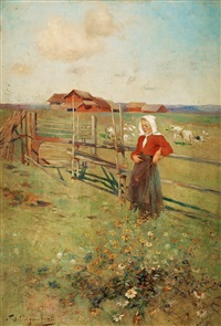 by the fence by ferdinand puigaudeau