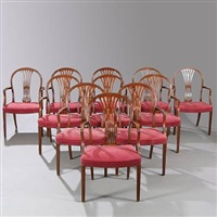 armchairs (set of 11) by frits henningsen
