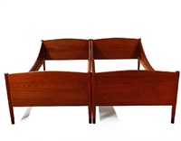 bed frames (model 2723) (pair) by ejnar larsen and aksel bender madsen