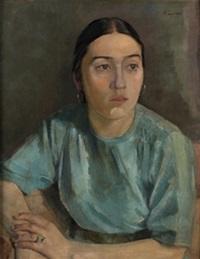 retrato de joven by jose maria togores