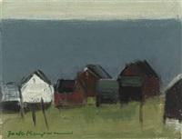 houses by the ocean, faroye islands by jack kampmann