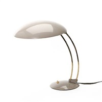 adjustable grey lacqured/brass table lamp (model 6764) by christian dell