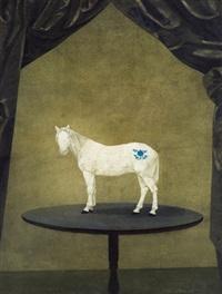 桌上的青花 (horse) by xu lei