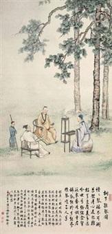 听琴图 by chen xiaomei