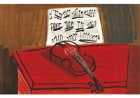 red violin by raoul dufy