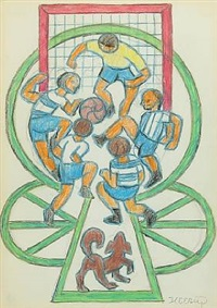 soccer players by henry heerup