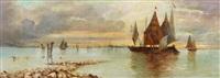 lagune vor venedig by eduard fischer
