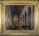 intérieur d'église animé by jules victor genisson