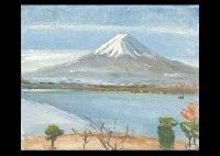 mt. fuji in kawaguchi lake by shozo yamazaki