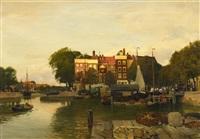 kanal in dordrecht by hans herrmann
