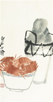 crabs and wine by qi baishi