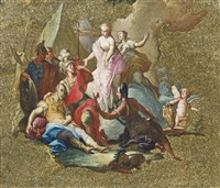 rinaldo and armida by giovanni battista tiepolo