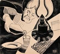 the evening drink by nikolai nikolaevich kupreyanov
