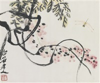 wisteria and dragonfly by qi baishi
