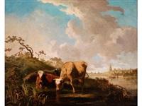 trinkende kühe am fluss by anonymous-british (18)