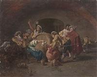 interno di locanda; partita a dadi (2 works) by anonymous (19)