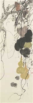 gourd and three chickens by qi baishi