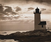 squam light at sundown by gerald tattersfield