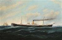 le bateau à vapeur netherby hall by édouard adam