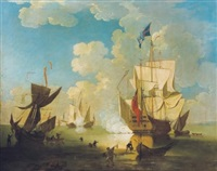 battle in the port by samuel scott
