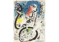 self-portrait from chagall lithographe by marc chagall