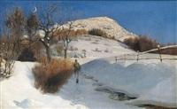 winterliche rhönlandschaft by julius von kreyfelt