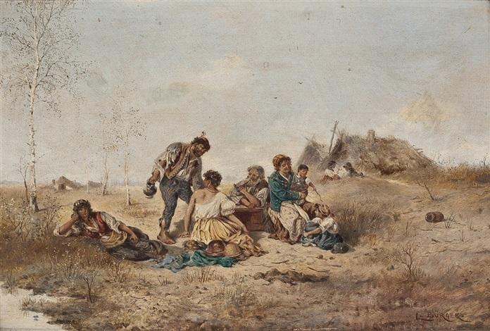 zigeuner bei der rast by lothar bürger