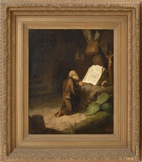 st. jerome reading in his chamber by gerrit dou