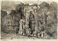 the ruins of netley abbey by john constable
