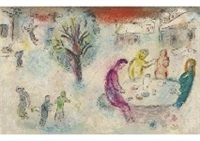 le repas chez dryas from daphnis et chloe by marc chagall