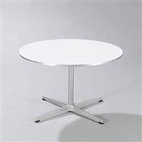 circular coffee table by arne jacobsen