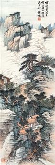 云中观道 立轴 纸本 by xiao xun