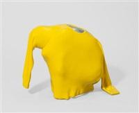 ohne titel (man hiding in pullover) by erwin wurm