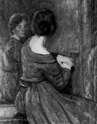 lady in a mirror by heinrich eberhardt