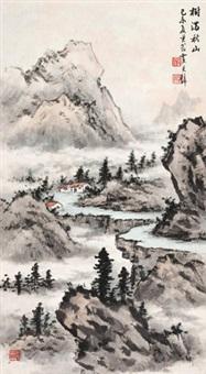 树满秋山 立轴 设色纸本 by huang junbi