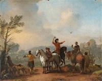 reiter in einer landschaft by johannes lingelbach