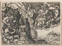 das gleichnis vom armen lazarus und dem reichen prasser (lucas c. 16, 19 - 31) by heinrich aldegrever