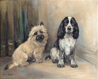 a spaniel and a terrier by marion rodger hamilton harvey