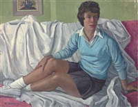 christine on the couch (+ 9 others; 10 works) by frederick stonham