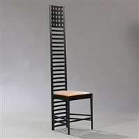 hill house 1 adder back chair by charles rennie mackintosh